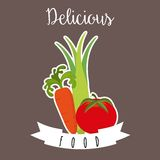 Healthy vegetarian food design Stock Image