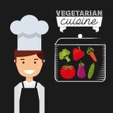 Healthy vegetarian food design Royalty Free Stock Images
