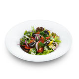 Healthy vegetarian greek salad with tomatoes, feta cheese Royalty Free Stock Photo