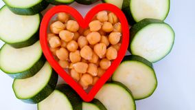 Healthy vegetarian heart Royalty Free Stock Image