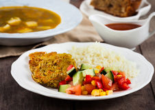 Healthy vegetarian lunch Stock Photography