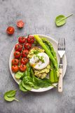 Healthy vegetarian meal plate royalty free stock photo