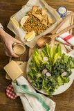 Healthy Vegetarian Meal stock image