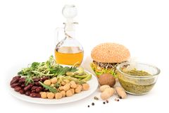 Vegetarian meals. Daily healthy food Stock Photo
