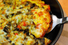 Healthy vegetarian pizza with vegetable assortment Royalty Free Stock Photography