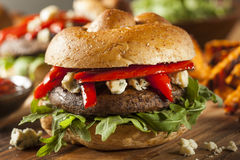 Healthy Vegetarian Portobello Mushroom Burger Royalty Free Stock Images