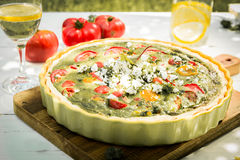 Healthy vegetarian quiche for lunch Royalty Free Stock Photos