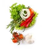 Healthy vegetarian salad Stock Photos