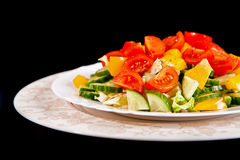 Healthy vegetarian salad isolated Royalty Free Stock Photos