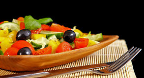 Healthy vegetarian salad isolated Stock Image