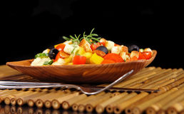 Healthy vegetarian salad isolated Stock Photography