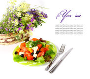 Healthy vegetarian salad isolated Royalty Free Stock Image