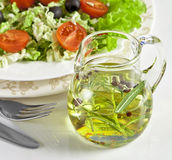 Healthy vegetarian salad isolated on white Royalty Free Stock Image