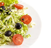 Healthy vegetarian salad isolated on white Stock Image