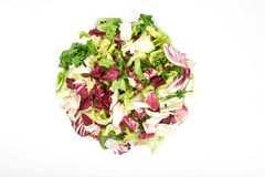 Healthy vegetarian salad isolated on the white background.  Stock Image