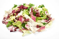 Healthy vegetarian salad isolated on the white background.  Stock Images