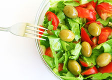 Healthy vegetarian Salad with olives Royalty Free Stock Photography