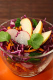 Healthy vegetarian salad with red cabbage Royalty Free Stock Image