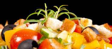 Healthy vegetarian salad  on white Stock Photo