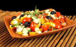 Healthy vegetarian salad  on white Royalty Free Stock Image