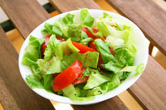 Healthy vegetarian Salad on the white plate Royalty Free Stock Images