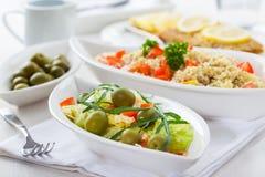 Healthy vegetarian salads stock image