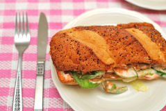 Healthy vegetarian sandwich Royalty Free Stock Image