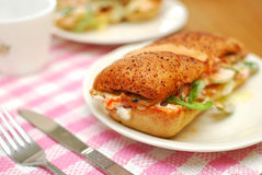 Healthy vegetarian sandwich Royalty Free Stock Images