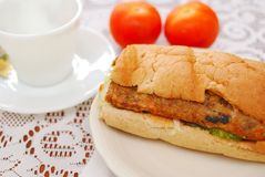 Healthy vegetarian sandwich Stock Photography