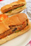 Healthy vegetarian sandwich Stock Image