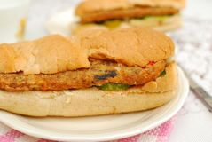 Healthy vegetarian sandwich Royalty Free Stock Photography