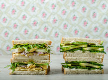 Healthy vegetarian sandwich Stock Photo