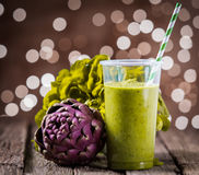Healthy vegetarian smoothie diet drink Royalty Free Stock Photo