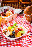Healthy vegetarian summer picnic Royalty Free Stock Images