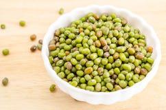 Healthy vegetarian super foods ingredient mung beans. Stock Photos