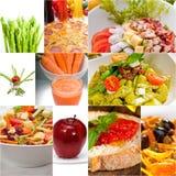 Healthy Vegetarian vegan food collage Stock Images