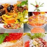 Healthy Vegetarian vegan food collage Royalty Free Stock Photo
