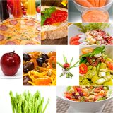 Healthy Vegetarian vegan food collage. Nested on white frame Stock Photography