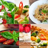 Healthy Vegetarian vegan food collage. Nested on white frame Royalty Free Stock Photo