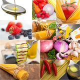 Healthy Vegetarian vegan food collage Stock Photo