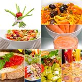 Healthy Vegetarian vegan food collage Stock Images
