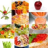 Healthy Vegetarian vegan food collage. Nested on white frame Royalty Free Stock Images
