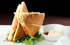 Healthy veggie panini sandwiches Stock Photos