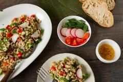 Healthy Veggie Salad Stock Photo