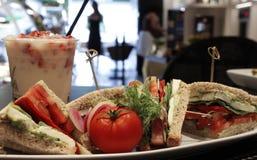 Healthy Veggie Sandwich Stock Photo