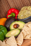 Healthy Vegtables and  guacamole Royalty Free Stock Photography