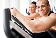 Healthy veloargometer  gym Stock Images