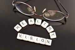 Healthy Vision. With Pair Of Glasses Stock Photo
