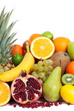 Healthy vitamin fruits. Vertical isolated Stock Image