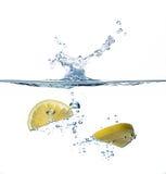 Healthy Water with Lemon. Splashing. Healthy Water with Lemon. Water splashes Stock Images